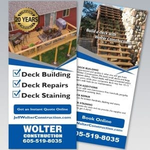 Wolter Construction Rack Card