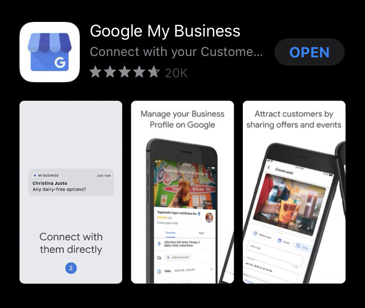 Google My Business in App Store