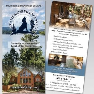 Coyote Blues Village Rack Card - Dot Marketing and Website Design