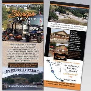 Sturgis RV Park Rack Card - Dot Marketing and Website Design