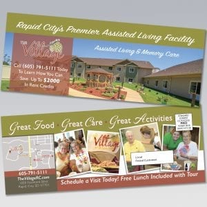 The Village Assisted Living & Memory Care Residential Direct Mail - Dot Marketing and Website Design