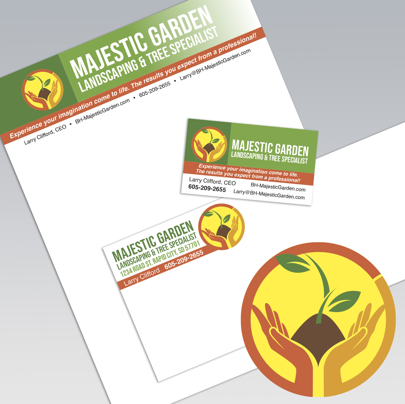 Dot Marketing and Design - Gallery - Logo Design and Branding - Majestic Garden Landscaping